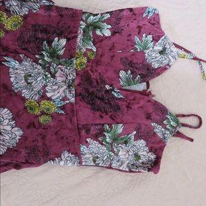 Sexy flower velvet dress